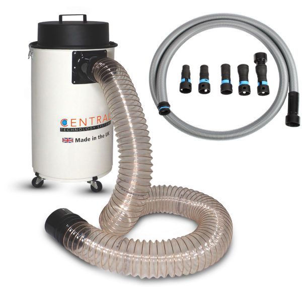 50l workshop dust extractor with power tool hose
